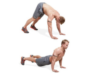 Dive bomber push up