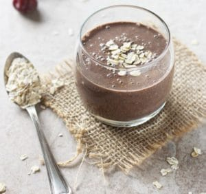 Cocoa and oat meal