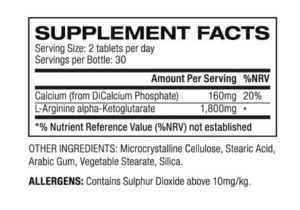 NO2-MAX ingredients
