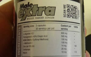 Male extra ingredients