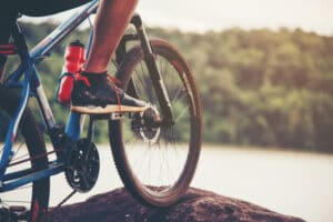 cycling women thigh fat